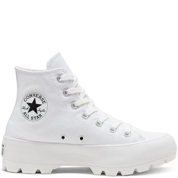 White Boot Platform Converse Canvas