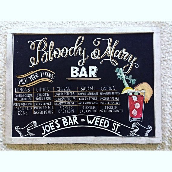 Bloody Mary Bar signe