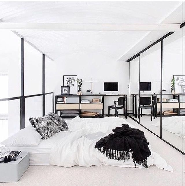 Best 25 minimalist bedroom ideas on pinterest for Minimalist black and white bedroom
