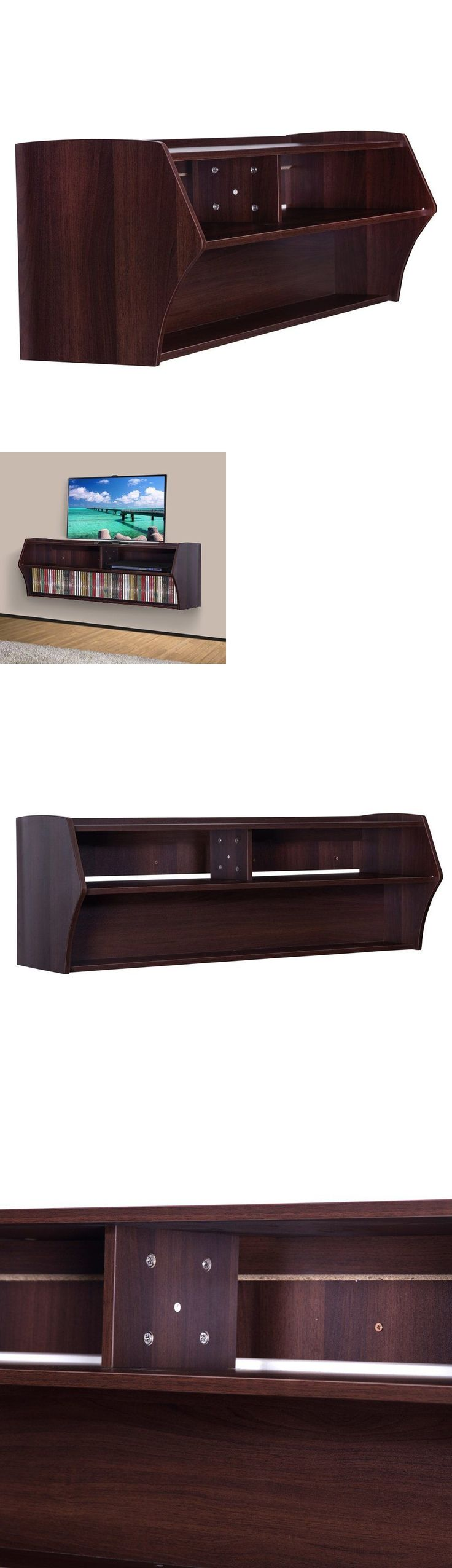 Entertainment Units TV Stands 20488: Floating Console Stand Entertainment Tv Media Center Cd Dvd Storage Wall Mounted -> BUY IT NOW ONLY: $126.24 on eBay!