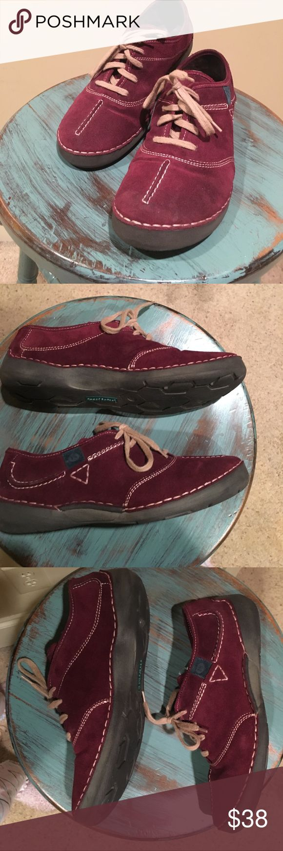 JOSEF SEIBEL WALKING SHOES 👞🕶 * Fabulous burgundy suede lace up loafers from European brand Josef Seibel  * Bought these jewels on here several months ago, but I need a bigger size * European 39 (US 8.5-9) *my loss is your gain!! * retails for 150-200$ +!! * these are preloved only by previous owner, but these will last forever ! * considering all REASONABLE offers ;-) Josef Seibel Shoes Flats & Loafers