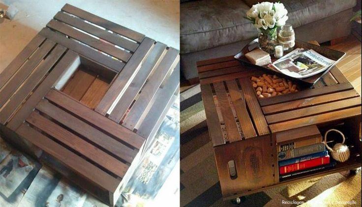 Mesas de centro con paletas de madera