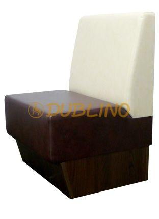 Dublino System/20/120 - Restaurační lavice na bukových nohách nebo s plným spodkem.
