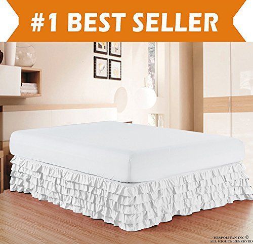 Product review for Elegant Comfort Luxurious Premium Quality 1500 Thread Count Wrinkle and Fade Resistant Egyptian Quality Microfiber Multi-Ruffle Bed Skirt - 15inch Drop, Queen, White.  - Give your bed a finished look with our multi ruffled bed skirts. Our basic color story will match any bedroom decor. This luxury bed skirt is designed with 5 layers on each side. Available in a 14-inch drop in sizes of twin, full, Queen, King and California King . This beautiful bed skirt.