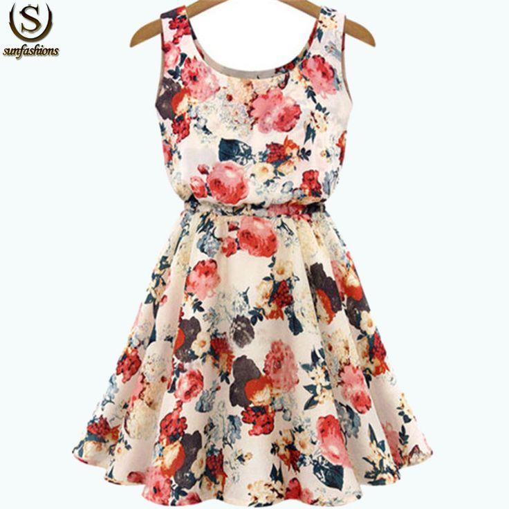 Ucuz 2015 yeni eski yüksek moda yenilik elbiseler desigual kayısı kolsuz yuvarlak boyun çiçekler baskı elbise kadın Retro giyim, Satın Kalite elbiseler doğrudan Çin Tedarikçilerden:    Renk: kayısıMalzeme: şifonTarzı: sokakYaka: yuvarlak boyunKol uzunluğu: kolsuzSiluet: pililiElbiseler uzunluğu: