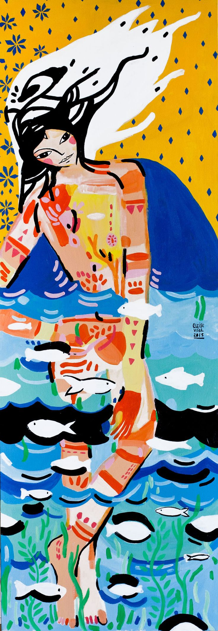 """ I am water"" | Original on canvas | 120x45cm"