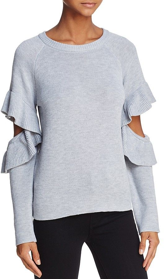 ecad07b4639c5a Endless Rose Ruffled Cutout Sweater - 100% Exclusive | Fashion ...