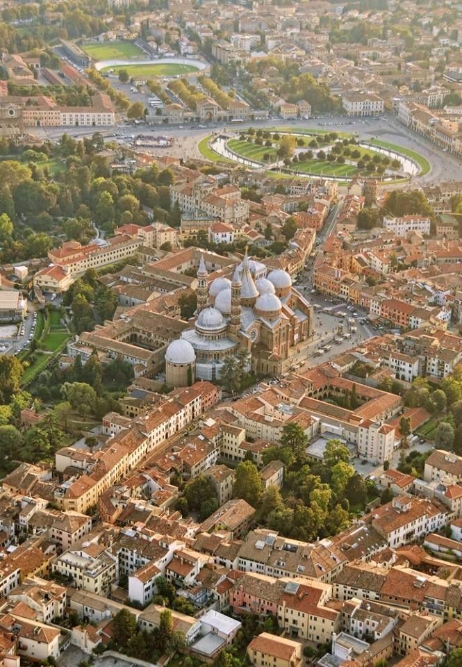 aerial shot of Padova, Veneto, Italy