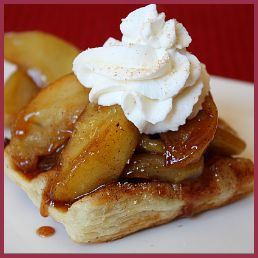 Caramelized Apple Pastries with Cinnamon Whipped Cream