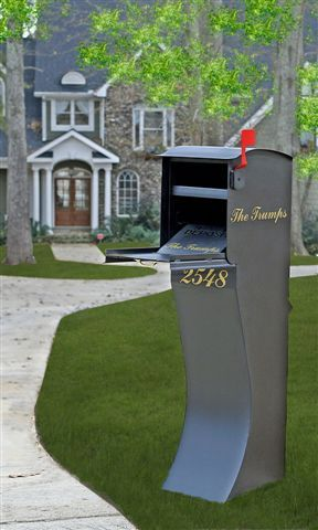 Mail Theft Solutions | Curbvault High Security Mailbox - Black | Residential Mailbox