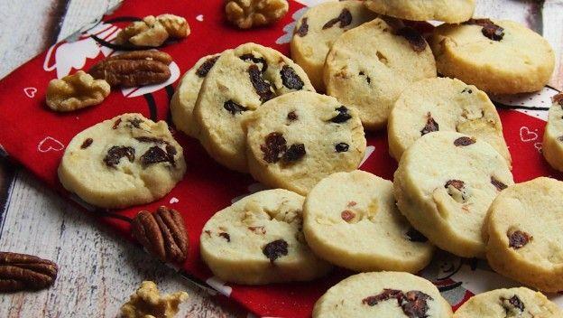 ciasteczka z żurawiną i orzechami / cookies with cranberries and walnuts