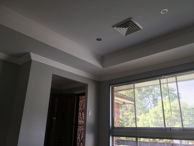 Ceiling recess with 4 step cornice & 2 step up top