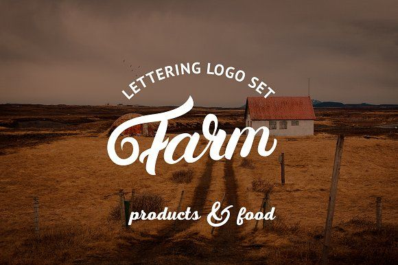 Farm Logo Set by Letters-Shmetters on @creativemarket