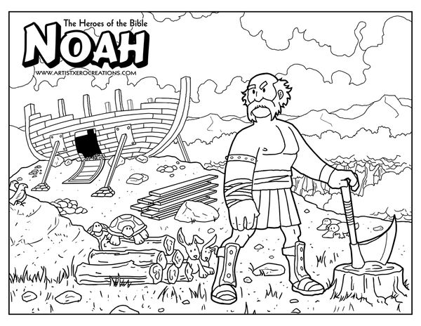 bible coloring pages by artist xero via behance - Bible Coloring Pages Kids Noah
