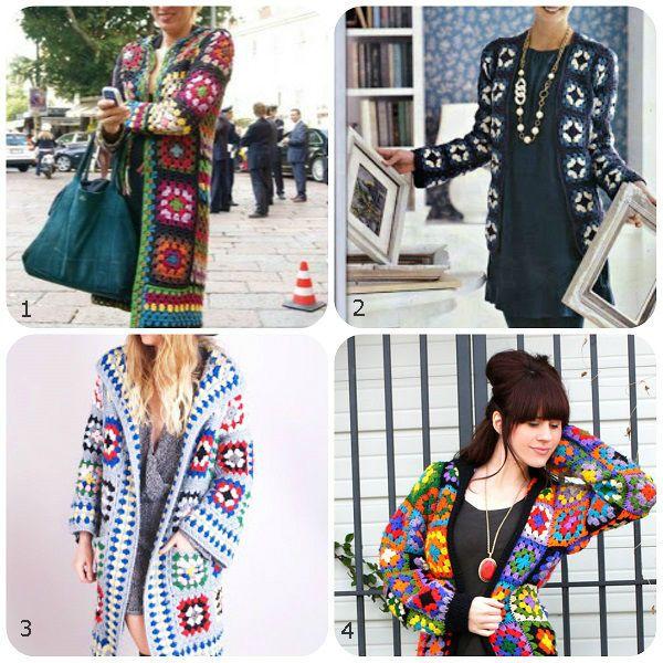 Come fare un cappottino con mattonelle a uncinetto: 4 modelli diversi, lo schema e le spiegazioni.