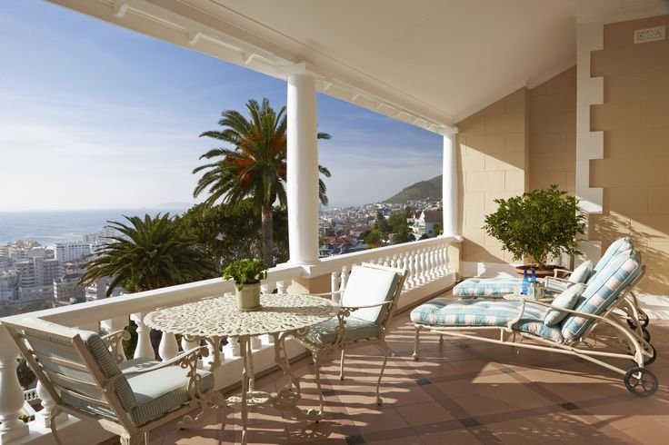 The Ellerman House Deluxe House Rooms al have private terraces that overlook the ocean and city  #CapeTown #ocean #interior #terrace #luxuryhotel