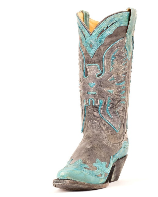 Women S Black Turquoise Crater Eagle Boot R2266 By