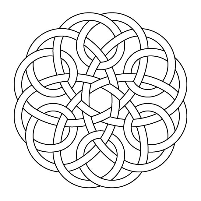 Celtic Knot Work Hexa One Piece By Peter Mulkers
