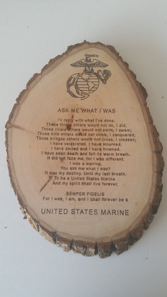 Ask Me What I Was Round Country Plaque  United States Marine Corps - USMC by Five1Designs