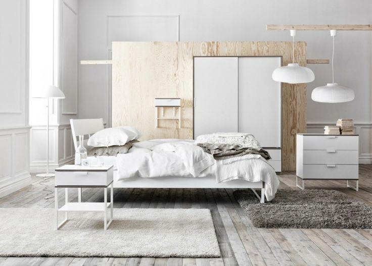 belle idée de déco de chambre d'adulte en blanc