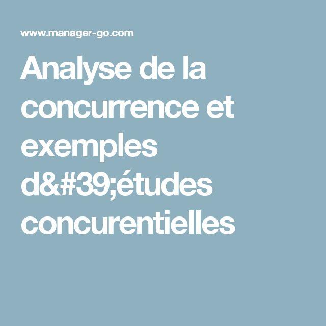 Analyse de la concurrence et exemples d'études concurentielles