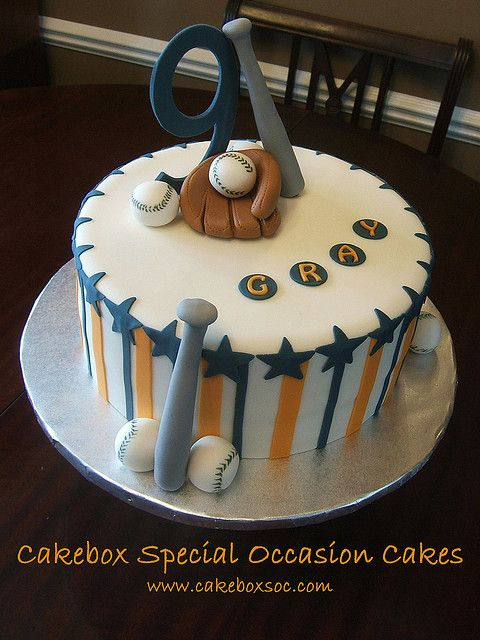Baseball Cake for Gray by cakeboxsoc, via Flickr