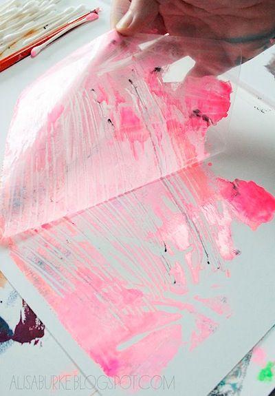 Alisa Burke plastic bag printmaking