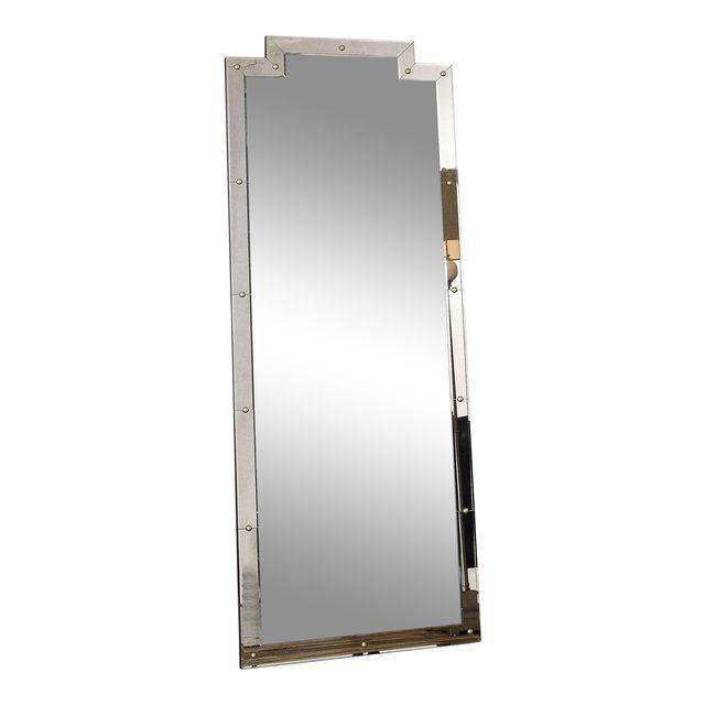 Studded floor mirror