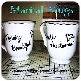 And this is how the story goes...: Craft On! {Marital Mugs; Shower/Wedding gift}