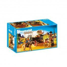 Chariot cow-boys et bandits Playmobil Western 5248