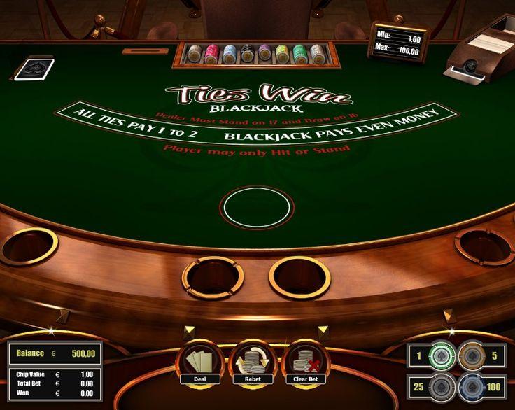 Ties Win Blackjack! for more games, register on http://casino-goldenglory.com/