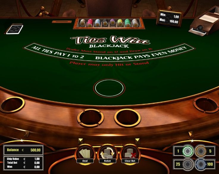 Ties Win Blackjack! for more games, register on http://casino-goldenglory.com/