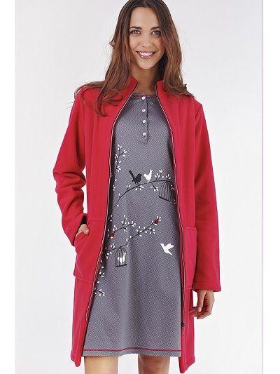 Batin mujer invierno cremallera- homewear http://www.perfumeriaelajuar.com/homewear/batines-mujer--invierno/00001617/batin-invierno-mujer-vania-rojo.html