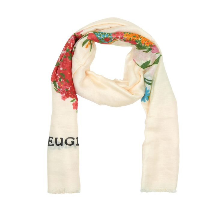 Gucci Luxury | Gucci Corsage Heart Print Scarf Panna in beige - Fashionette