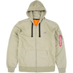 Jobman Technical Gefütterte Vintage Hoodie Jacke – Kapuzen Sweatshirtjacke – schwarz/dunkelgrau – Gr