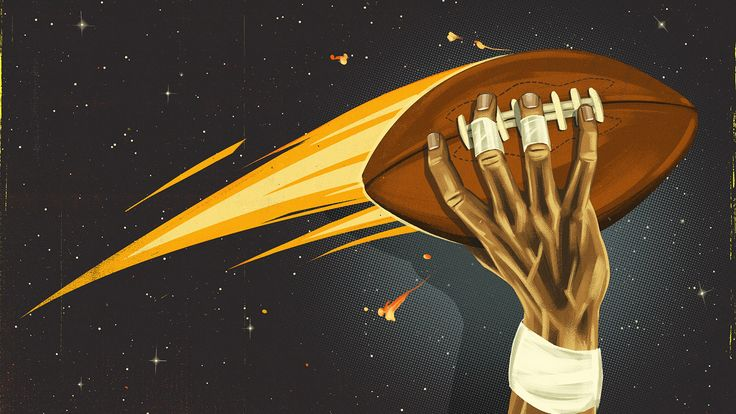 Black quarterbacks advancing the sport of football for ESPN // The Undefeated. Illustration by Daniel Downey