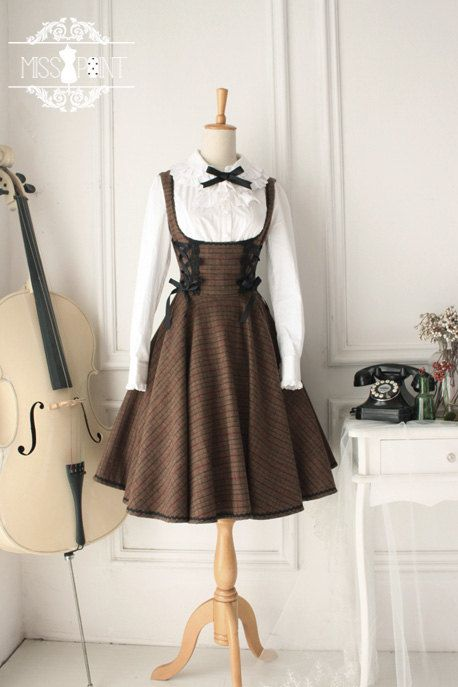 Mocha forest cake overall dress by misspoint on Etsy-I'd need a blouse and some shoes and a light petticoat, but this is gorgeous...