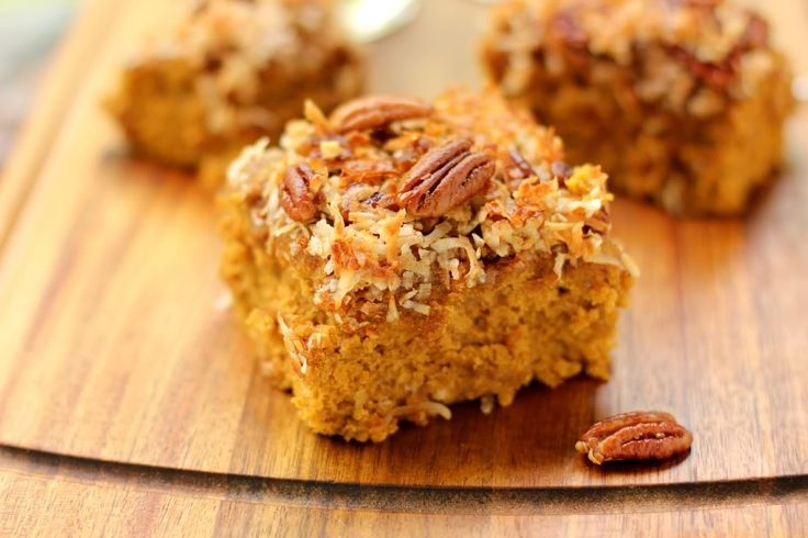 Pumpkin Oat Snack Cake with Broiled Coconut Icing > Willow Bird Baking
