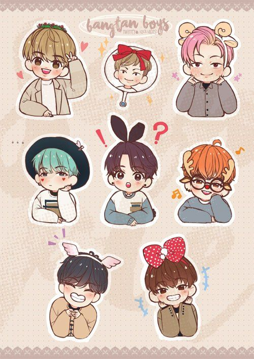 Bts Chibi Drawing: Spiral Notebooks | Redbubble
