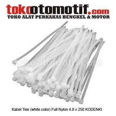 Kabel Ties (white color) Full Nylon 4.8 x 250 KODENKI - cable ties / kabel tis  Kode : 130022 Nama : Kabel Ties (white color) Full Nylon 4.8 x 250 (1050250) KODENKI Merk : KODENKI Tipe : (White Color) Full Nylon 4.8 x 250 Berat Kirim : 1 kg  #cableties #kabeltis #alatlistrik #pengikatkabel #hargakabelties #jualcableties #kabeltie #hargacableties