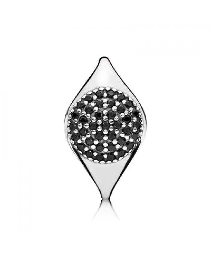 Cheap Pandora Large Pave Black Crystal Ring 190888NCK Online