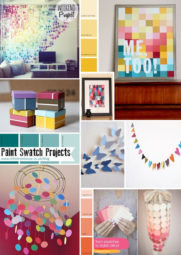diy paint swatch crafts version paint swatch diy projects decor paper decorations mood board by in the treehouse