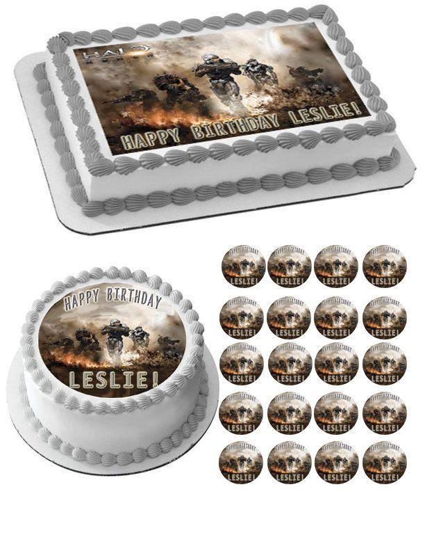 1000+ ideas about Halo Cake on Pinterest Black Ops Cake ...