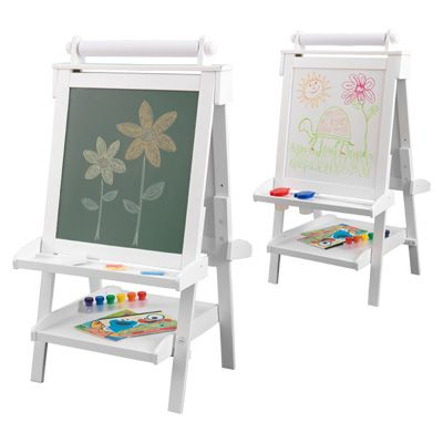 Tableau chevalet ajustable en bois blanc chambre enfant pinterest - Lit enfant ajustable ...