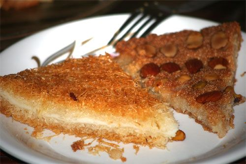 Best ever Konafa foto with Ricotta and cream filling