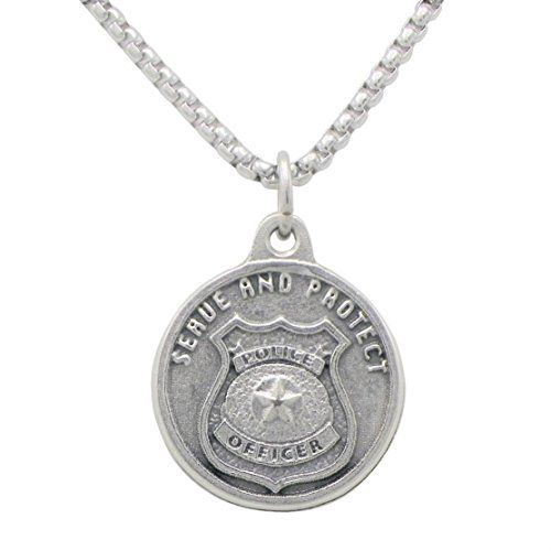 "Rosemarie Collections St Michael Pendant Necklace ""Patron Saint of Police Officers""