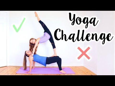 yoga challenge with my sister  youtube  yoga challenge