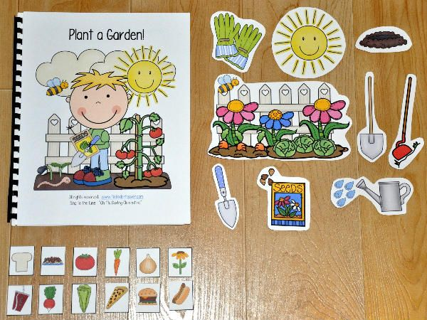 """Adapted Song Books teach common vocabulary through song. This Adapted Song Book, """"Plant a Garden, Plant a Garden"""" is an spring themed activity, that teaches garden vocabulary and is sung to the familiar tune, """"Oh My Darling Clementine."""" In this activity, the teacher or therapist sings the song and moves through the book, as the students sing along, and match the correct interactive piece to each page. After the song is complete, students work through a sorting activity as they sort, things…"""