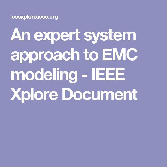 An expert system approach to EMC modeling - IEEE Xplore Document