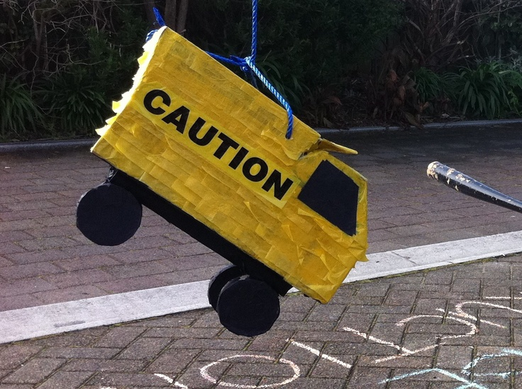 My version 4 - The pinata I made after pinning one on my Construction Party board